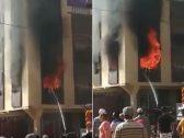 وسط الصراخ … شاهد لحظة اشتعال النار في طفلة بالمغرب أمام أعين الناس !