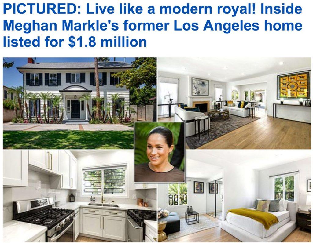 """بالصور.. عرض منزل """"ميجان ميركل"""" القديم بلوس أنجلوس للبيع .. تعرف على سعره وتفاصيل مواصفاته"""