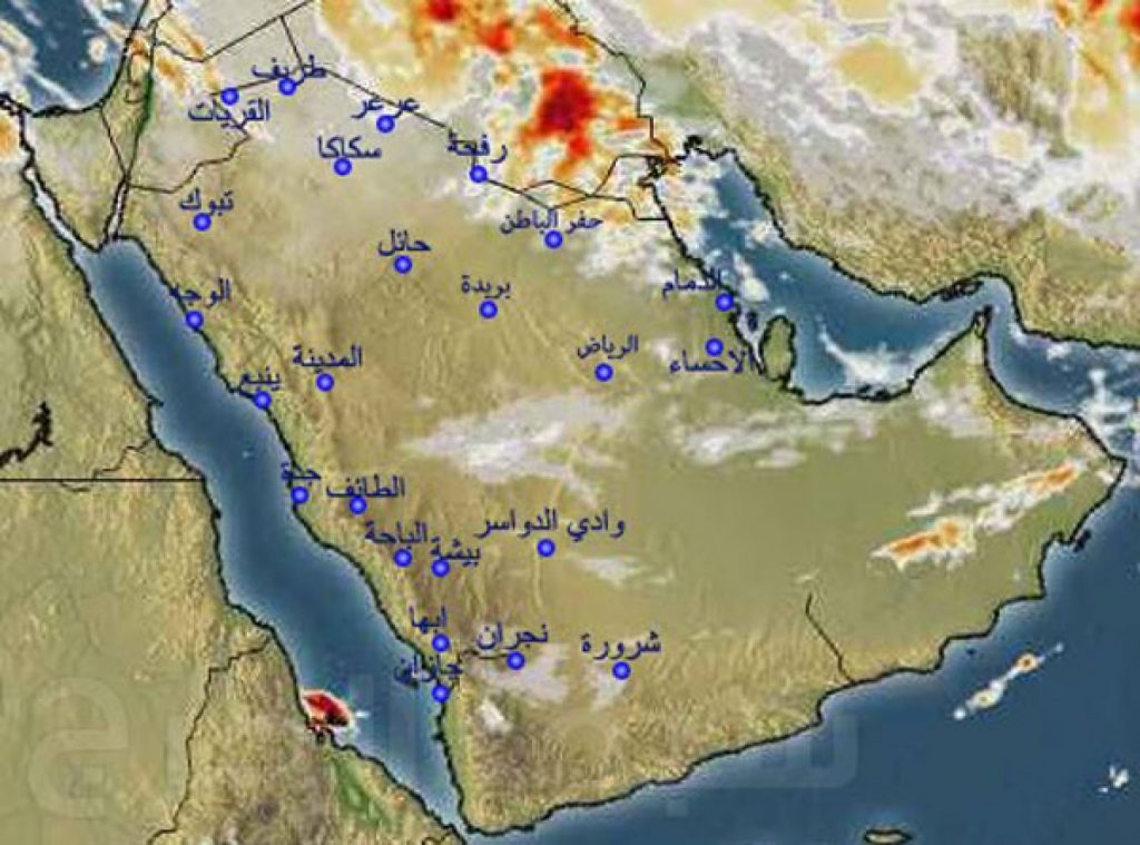 «أمطار ورياح مثيرة للأتربة» تضرب عدة مناطق في المملكة خلال الساعات القادمة !