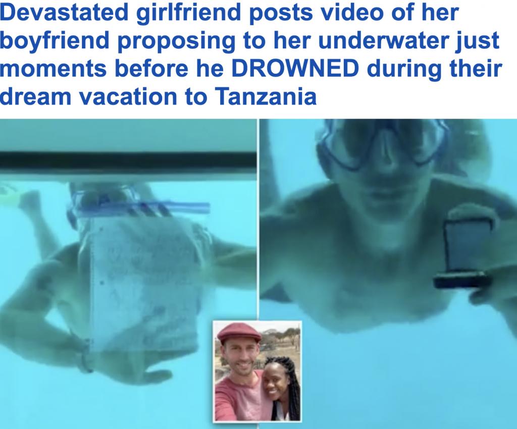 أمريكي يغوص تحت الماء ليطلب الزواج من  صديقته بطريقة مبتكرة .. وكانت المفاجأة ! -فيديو وصور