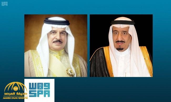 خادم الحرمين يتلقى اتصالاً هاتفياً من ملك البحرين .. ويؤكد: قدرة المملكة على التعامل مع مثل هذه الأعمال الإرهابية