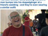 """شاهد… رد فعل """"رجل"""" ماليزي بعدما فوجئ بـ """"شبيهه"""" في حفل زفاف"""