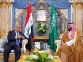 بالصور .. تفاصيل اجتماع ولي العهد مع رئيس وزراء العراق