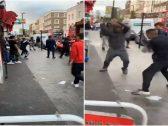 شاهد : معركة بالسيوف والسواطير في وسط لندن