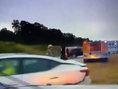 شاهد : حادث سير غريب في إحدى ولايات أمريكا!