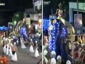 """شاهد.. فيل """"يدهس"""" عشرات السريلانكيين أثناء الاحتفال بأحد المهرجانات"""