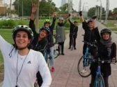 شاهد .. أول سباق دراجات نسائي يقطع مسافة 100 كم في المملكة