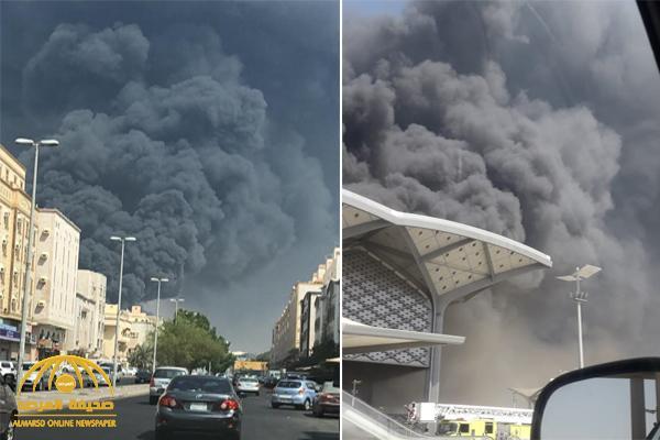 بالفيديو حريق ضخم في محطة قطار الحرمين بجدة صحيفة المرصد