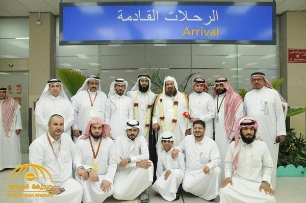 استقبال صاحب الميدالية الذهبية لأجود عسل في العالم في مطار جدة
