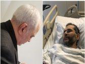 شاهد: ردة فعل وزير خارجية إيران بعد منعه من زيارة صديقه المريض في نيويورك وهو على بعد أمتار منه !