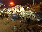 شاهد .. صور مروعة لحادث جسر الملك فهد .. ومصادر تكشف عن أسبابه وحالة قائد السيارة !