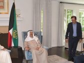 """شاهد بالصور والفيديو .. أول ظهور لـ""""أمير الكويت"""" بعد مغادرته المستشفى في أمريكا"""