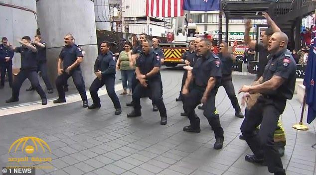 """شاهد.. رجال الإطفاء بنيوزيلندا يشاركون في ذكرى ١١ سبتمبر برقصة """"الهاكا"""" الشهيرة"""
