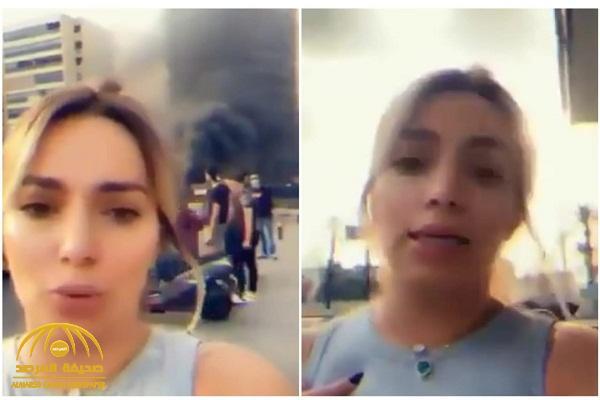 """شاهد: متظاهرة لبنانية تناشد """"أمير الكويت"""" يحكم بلدها ليوم واحد لعدم وجود رجال !"""
