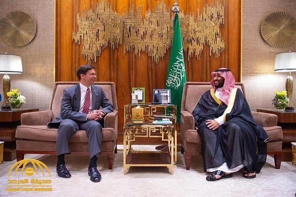 ولي العهد يجتمع مع وزير الدفاع الأمريكي – صور