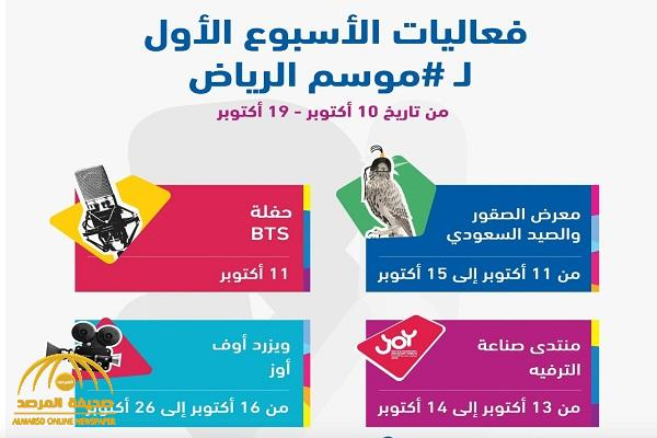 """فعاليات تجمع نجوم الفن والطرب .. شاهد: """"موسم الرياض"""" يعلن عن العديد من المفاجآت في أسبوعه الأول"""