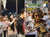 """شاهد الموصل ما بعد """"داعش"""" قاتل الفن … موسيقيات وعازفون عراقيون في """"أوركسترا مضيئة"""""""