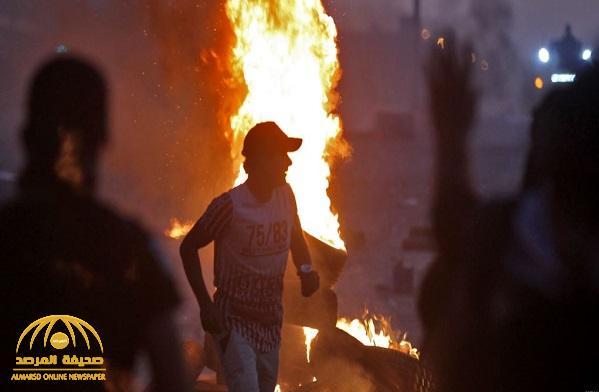 """شاهد.. """"الاحتجاجات"""" في العراق تتحول إلى ساحة حرب !"""
