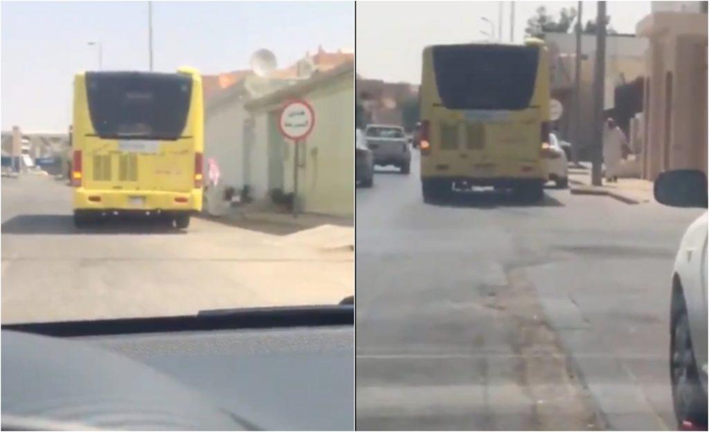 """شاهد: """"سائق حافلة القصيم"""" يشعل تويتر بعد هذا التصرف مع الطالبات!"""