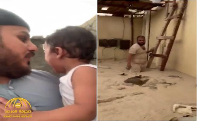 شاهد : مقاطع فيديو توثق مداهمة السيول للمنازل ولحظة إنقاذ الأطفال بمكة