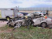 شاهد بالصور .. حادث مأساوي لأسرة على طريق بالرياض ووفاة 7 من أفرادها