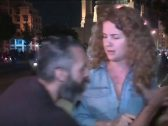 """شاهد : لبناني  من  """"حزب الله """"  يخطف الميكروفون من مراسلة العربية .. ويعلق: """"حسن نصر الله تاج راسكم يا عربية"""""""