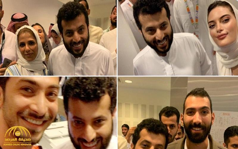 """شاهد : """"تركي آل الشيخ"""" يزور مركز عمليات """"موسم الرياض"""" ..  ويزف بشرى للجنود وذوي الشهداء"""