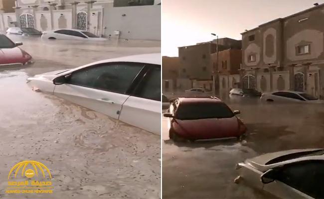 شاهد: الأمطار الغزيرة تغرق المركبات داخل عدد من الأحياء بمكة ..  والمتحدث باسم الدفاع المدني يعلق