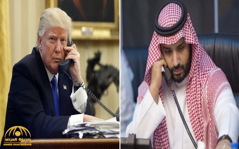 ولي العهد يجري اتصالاً هاتفياً بالرئيس الأمريكي بشأن عملية تصفية زعيم داعش