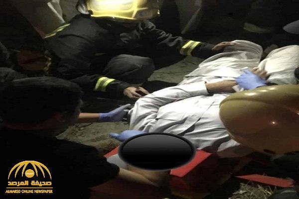 """ربط حبل في عنقه .. بالصور: انتحار شاب من أعلى كبري بـ""""رغدان"""" في الباحة"""