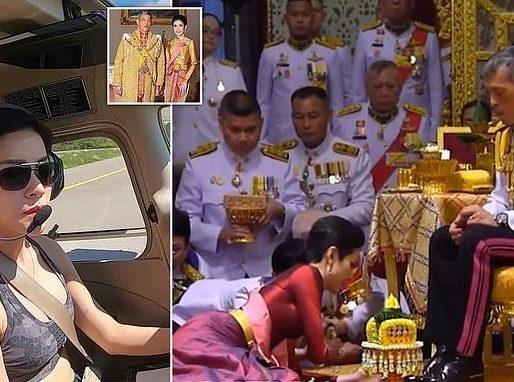 بسبب مفاجئ .. ملك تايلاند يجرد زوجته الجديدة من ألقابها الملكية !