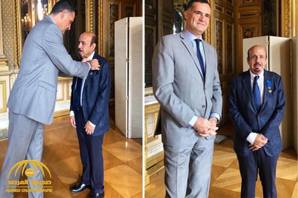 بالصور: فرنسا تمنح السفير العنقري وسام الاستحقاق الوطني برتبة ضابط أكبر