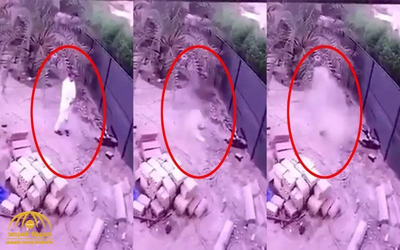 """بالفيديو .. الكويتي الذي """"ابتلعته الأرض"""" في حديقة منزله يكشف ملابسات الواقعة وحقيقة ما حدث"""