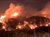 شاهد : حرائق ضخمة تجتاح وسط لبنان والسكان يفترشون الطرقات وحالات نزوح جماعية