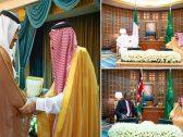 بالصور .. خادم الحرمين يستقبل  وزير الخارجية الإماراتي والرئيس الكيني والرئيس النيجيري