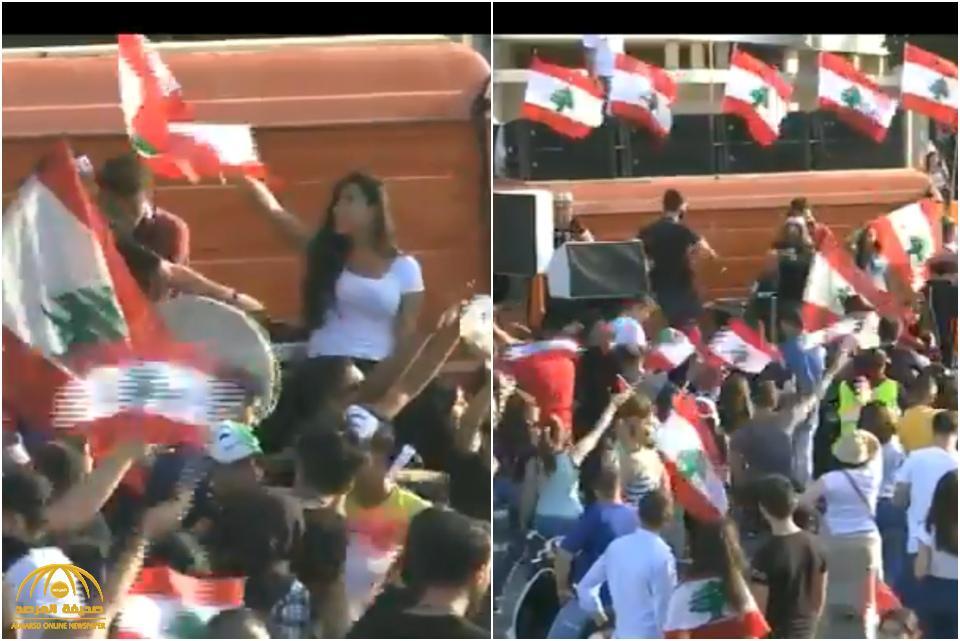 """ردة فعل المتظاهرين في لبنان بعد القرارات """"الإصلاحية"""" التي أعلنها سعد الحريري – فيديو"""