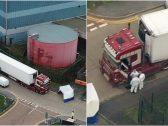 حادث مأساوي في بريطانيا.. العثور على 39 جثة مقتولة في شاحنة بمنطقة صناعية – فيديو