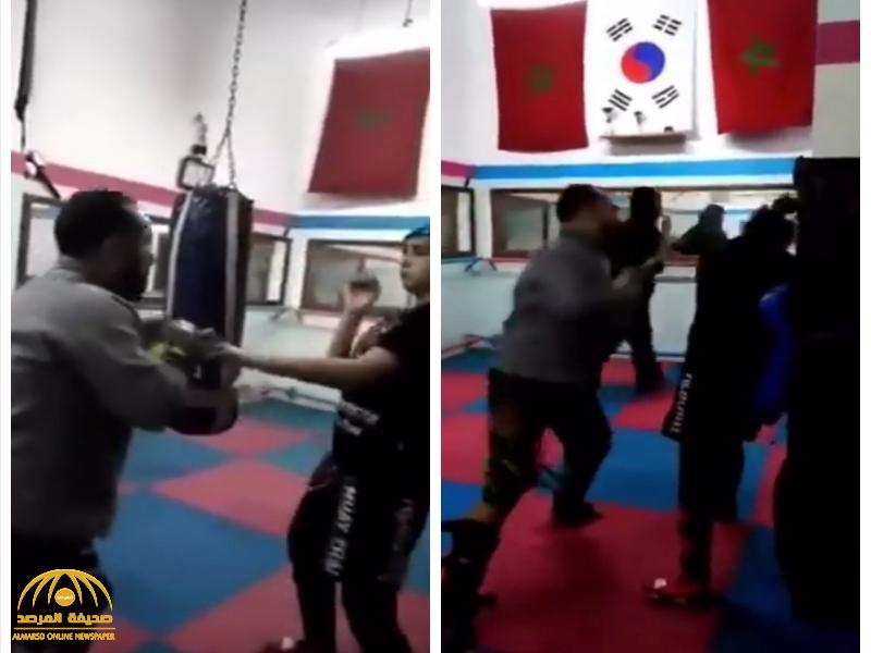 شاهد: مدرب يعتدي بطريقة وحشية على فتاة مغربية داخل نادي رياضي.. ويثير جدلا واسعا!