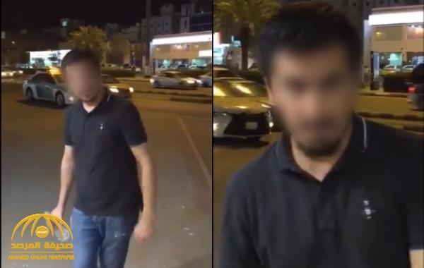 شاهد: فيديو متداول لوافد يصرخ ويقوم بتصرفات غريبة في شارع عام بالمملكة
