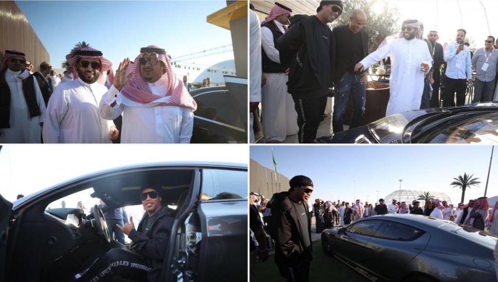 بالصور .. تركي آل الشيخ يكشف عن سيارة المستقبل 2030 لأول مرة في معرض الرياض للسيارات