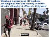 بعد مطاردة مثيرة .. شاهد شرطي أمريكي يطلق النار على رجل أسود  في هوليوود
