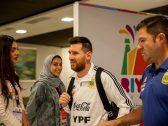 """شاهد ..  لحظة وصول """"ميسي"""" لـ""""مطار الرياض"""""""