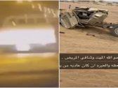 """بسرعة تتجاوز الـ 200 .. شاهد: لحظة وقوع حادث شنيع لسائق شاص على طريق عام بـ""""المملكة"""""""