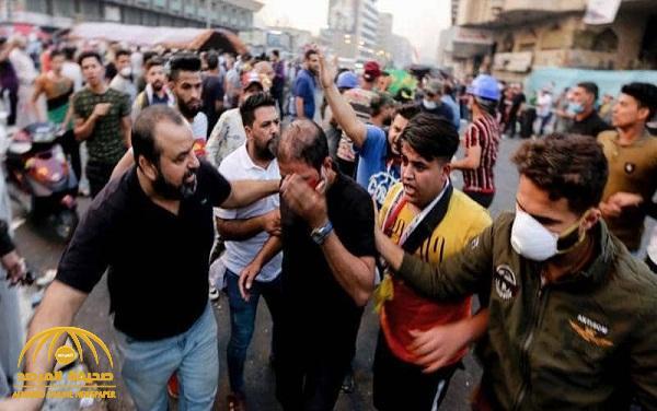 شاهد: إطلاق الرصاص الحي على المتظاهرين العراقيين ضد الفساد وسط بغداد