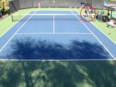 """شاهد: مضاربة بين لاعبتي """"تنس"""" على أرض الملعب"""