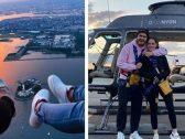 شاهد .. حفيد مبارك يحتفل مع صديقته بعيد الحب في هليكوبتر … ويحذف الصور بعد تصدرها مواقع التواصل!