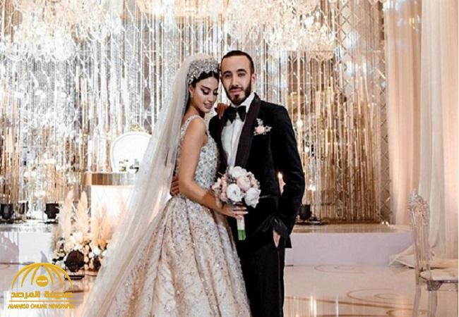 بالفيديو والصور.. شاهد: حفل زفاف مريم ناظم أول عارضة أزياء يمنية.. وهكذا خطفت الأنظار !