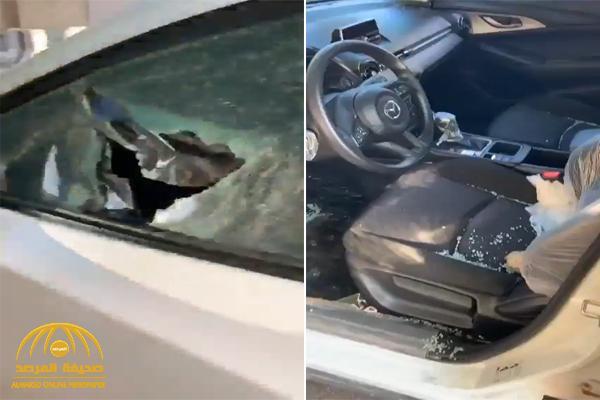 أربعيني يعتدي على معلمة في تبوك ويكسر زجاج سيارتها وهي بداخلها .. وهذا ما فعله حينما حاولت الهرب منه – فيديو