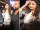 شاهد : مذيعة لبنانية شهيرة تصرخ بعد نشل تليفونها من قبل أحد مناصري حزب الله
