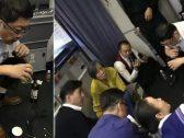 شاهد .. جرَّاح صيني ينقذ راكب على طائرة بأغرب طريقة طبية !